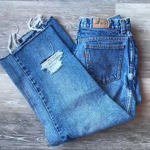 Vintage Cropped/Distressed Levi's Jeans